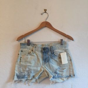 Vintage S American Eagle hand dyed denim shorts
